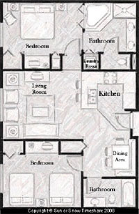Two bedroom timeshare